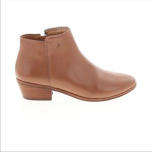 Jack Rogers Tan cognac leather bailee ankle boots